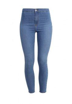 Джинсы Topshop, цвет: голубой. Артикул: TO029EWKHV62. Женская одежда / Джинсы / Джинсы с высокой талией