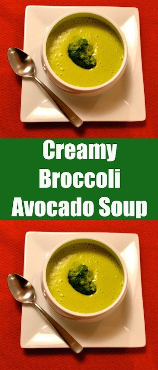 Creamy Broccoli Avocado Soup