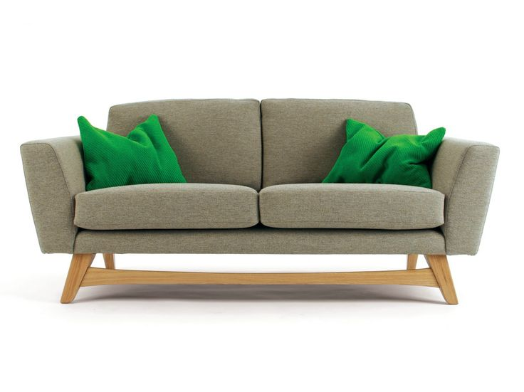 Upholstered 2 seater fabric sofa ISAAC by And Then Design