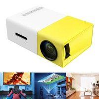 Wish | Portable Mini LED Projector Cinema Theater PC&Laptop USB/SD/AV/HDMI Input Mini Pocket Projector for Video Movie Game Entertainment Projetor