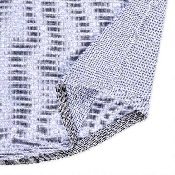 Paul Smith Men's Shirts   Blue Contrast Pocket Shirt