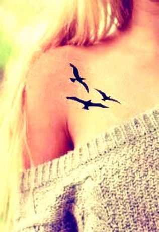 Teen Birthday Ideas:  Give Temporary Tattoos as Gifts.  (3 pc Flying Swallow Temporary Tattoos by Maomao Creation @ Etsy.)