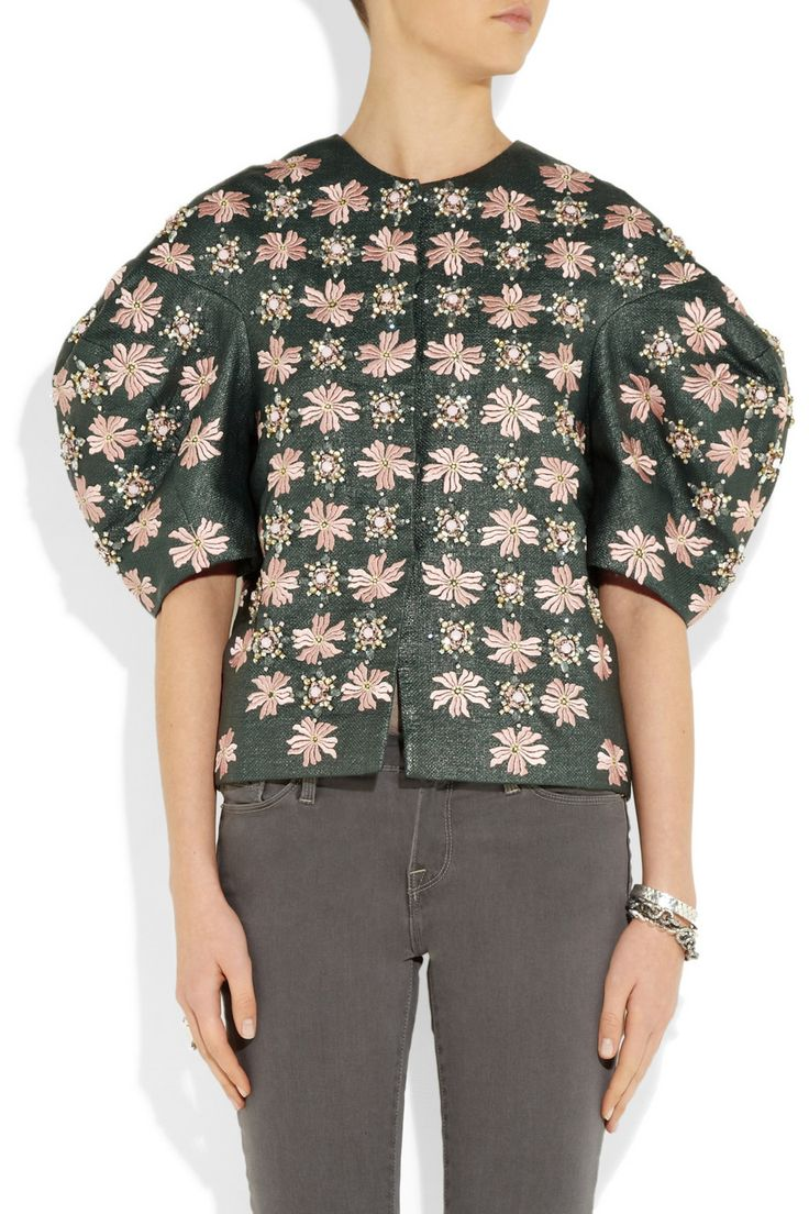 Biyan | Kimberley embellished canvas jacket | NET-A-PORTER.COM