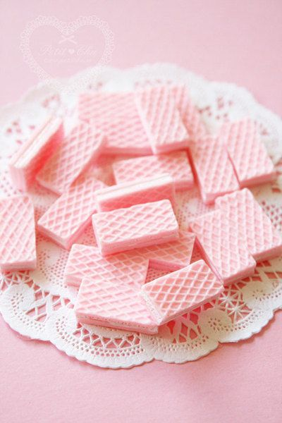 Pastel Pink Strawberry Wafers, T.