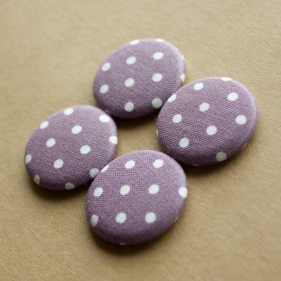Purple Polka Dot Magnets  set of 4 by HowlOwl on Etsy.