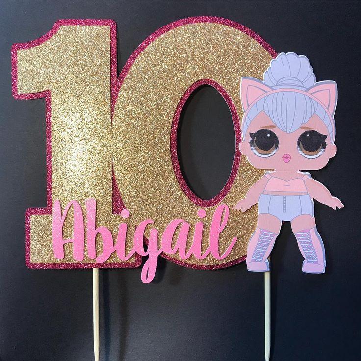 Eine andere niedliche LOL Überraschungspuppe kundenspezifische Tortenplatte. #lolsurprise #lolsurprisedoll …   – день рождения