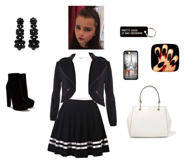 """""""Nice school uniform xxx"""" by emmaphunkmckenna ❤ liked on Polyvore featuring Puma, DKNY, Various Projects and Simone Rocha"""