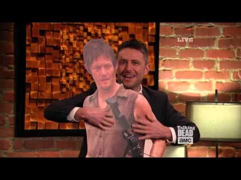 Talking Dead host Chris Hardwick embarrasses special guest Norman Reedus (The Walking Dead's Daryl Dixon).