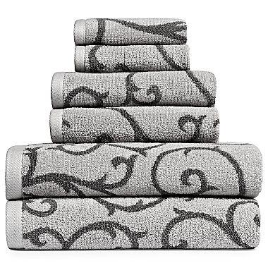 Royal Velvet 174 Leaf Scroll Bath Towel Jcpenney For The