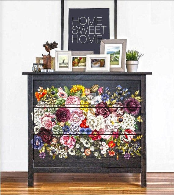 Rub On Transfers For Furniture Furniture Decals Redesign Etsy In 2021 Floral Furniture Flipping Furniture Decor
