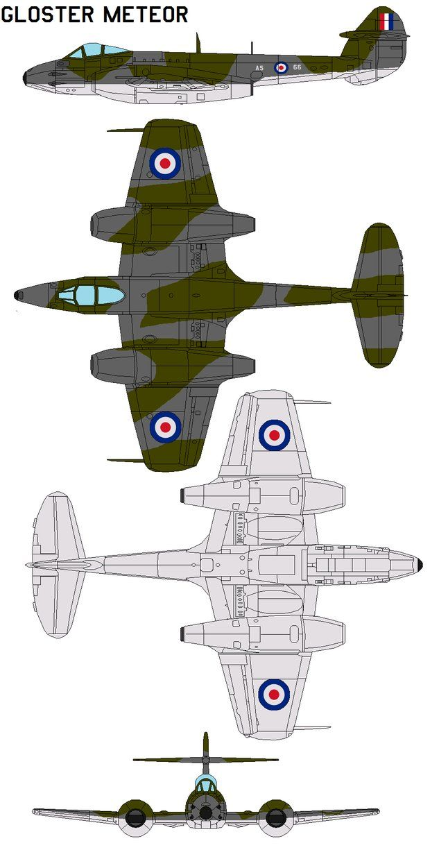 Gloster Meteor by bagera3005 on DeviantArt