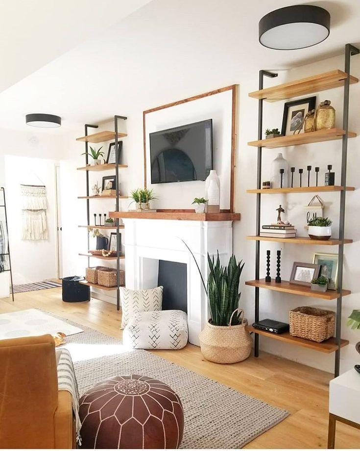 Built in Shelves Around Fireplace #inneneinrichtung #wohnzimmer #einrichten #woh…  #badezimmerideen