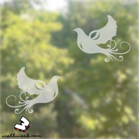 Doves window stickers. Window decorations easy to install #homedecor #windowstickers