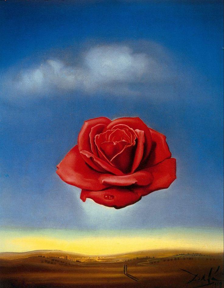 The Meditative Rose. 1958. Salvador Dali.