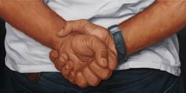 """Saatchi Art Artist sebastian sleczka; Painting, """"Fist"""" #art"""