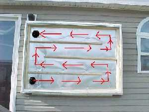 Building an inexpensive solar heating panel