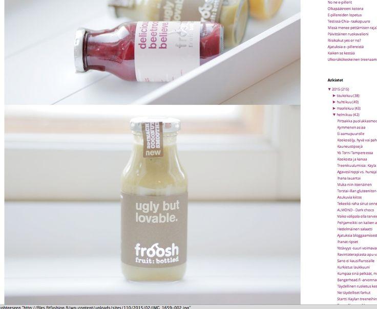 Bloggaaja-yhteistyötä Froosh & One my way 2015