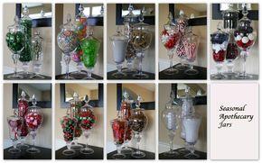 Seasonal apothecary jars