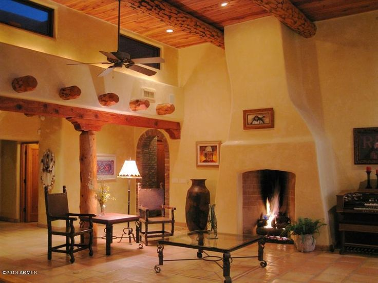 Southwest-Style Pueblo Desert Adobe Home. So peaceful...I'd