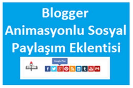 Blogger Animasyonlu Sayfa İçi Sosyal Paylaşım Eklentisi