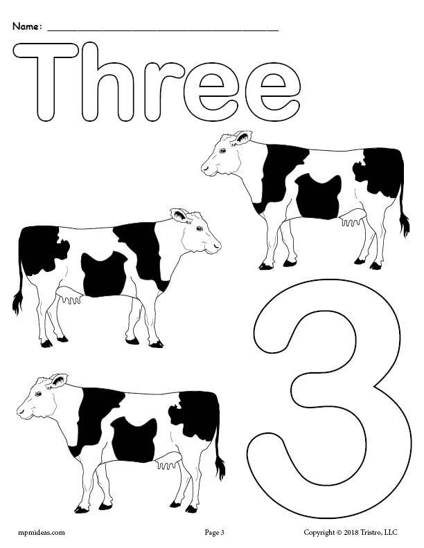 Printable Animal Number Coloring Pages Numbers 1 10 Numbers Kindergarten Numbers For Kids Color Worksheets