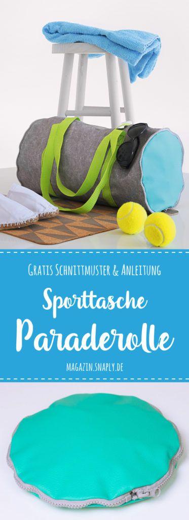 """Kostenloses Schnittmuster: Sporttasche """"Paraderolle"""" nähen"""