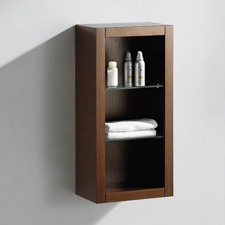 Wenge Brown Bathroom Linen Side Cabinet w/ 2 Glass Shelves https://www - Best 25+ Bathroom Linen Cabinet Ideas On Pinterest Bathroom