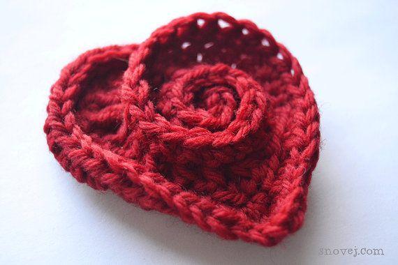 Terminologie de modèle au Crochet Swirly coeur broche par snovej