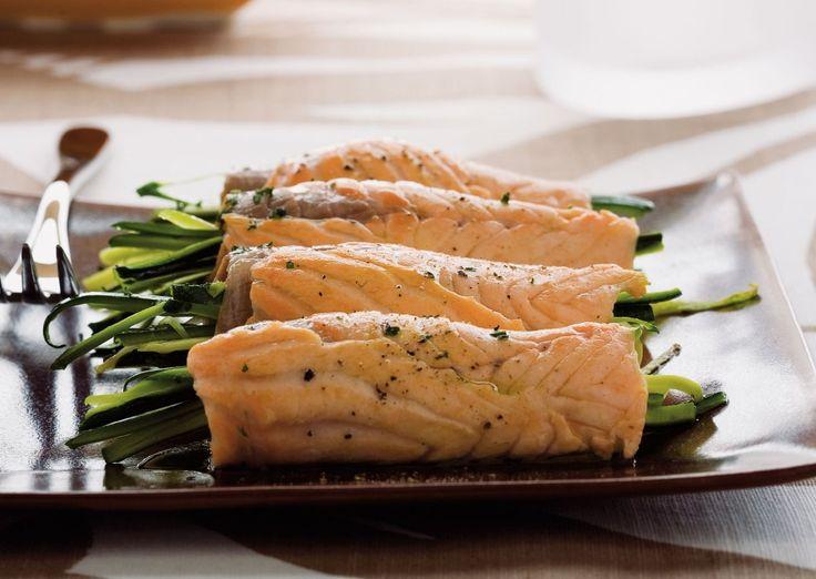 Involtini di salmone, zucchine e...