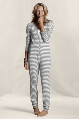 Women's Thermal Union Suit Pajamas  from Lands' End Canvas  I'll admit it, I want this....