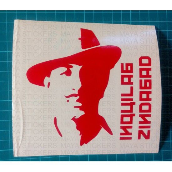 These exclusive custom designed bhagat singh stickers are a tribute to the great indian revolutionary the design takes a modern approach to the iconic