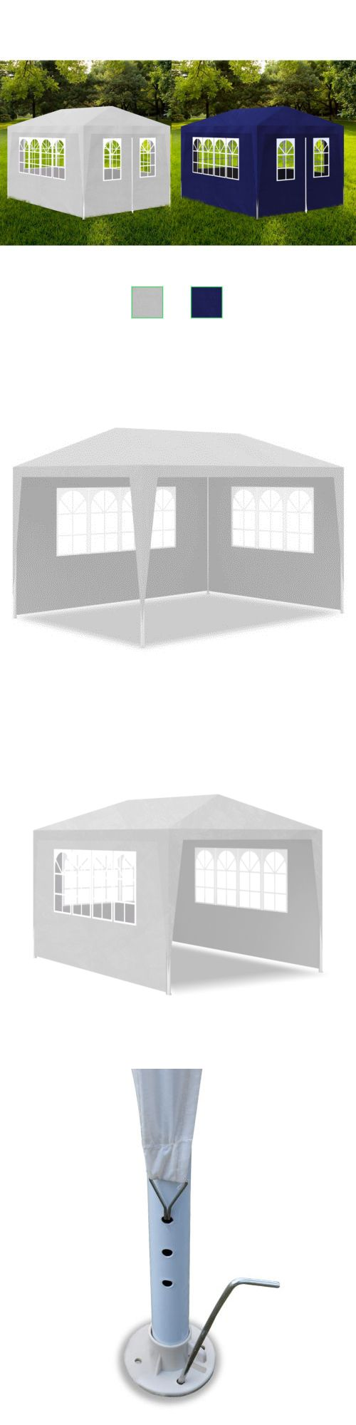 Awnings and Canopies 180992: 10 X 13 White Blue Outdoor Wedding Party Tent Gazebo Canopy With 4 Side Walls -> BUY IT NOW ONLY: $73.99 on eBay!