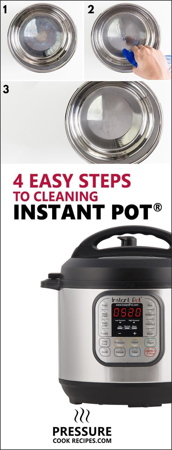 4 Easy Steps To Clean Your Instant Pot (photo Guide With Tips!)