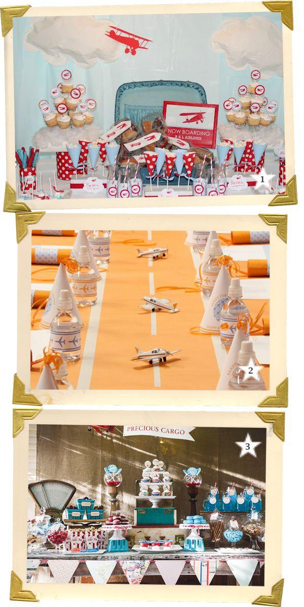 Fiestas de aviones, en blog.fiestafacil.com / Airplane parties, in blog.fiestafacil.com