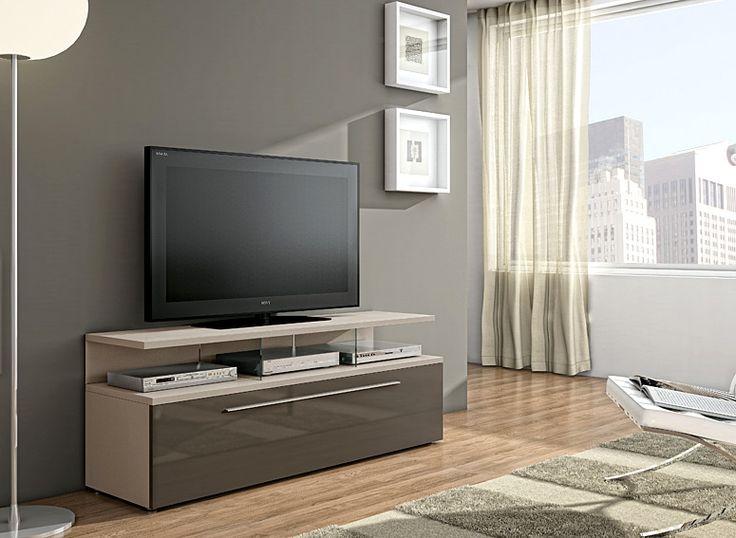 Mueble de TV Moderno Naples   Material: DM Densidad Media   Mueble realizado en DM y MelaminaExiste la posiblidad de realizar el mueble en diferente color de acabado, ver imagen de galeria... Eur:674 / $896.42