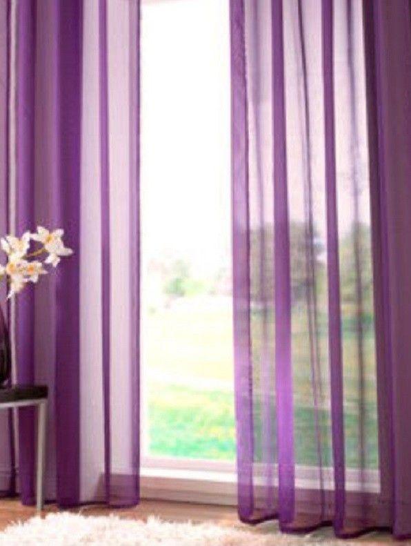 Vitrage plooigordijn paars