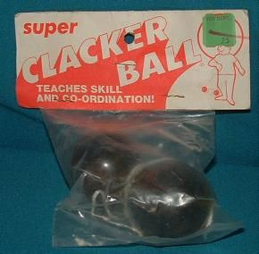 1970's Clacker Ball toy. I almost knocked myself out long before learning skill & co-ordination as the package states.