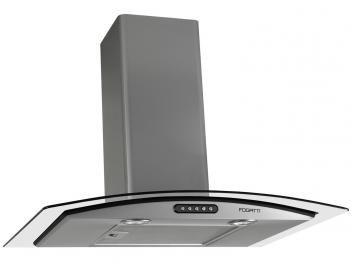 Coifa de Parede Fogatti 80cm com Vidro Curvo - 3 Velocidades Slim CVC80 PRATA SLI