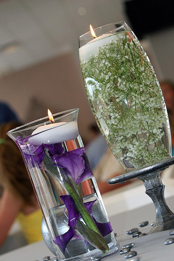 Purple and Green Wedding. Babies Breath. Mercury Glass Wedding #wedding