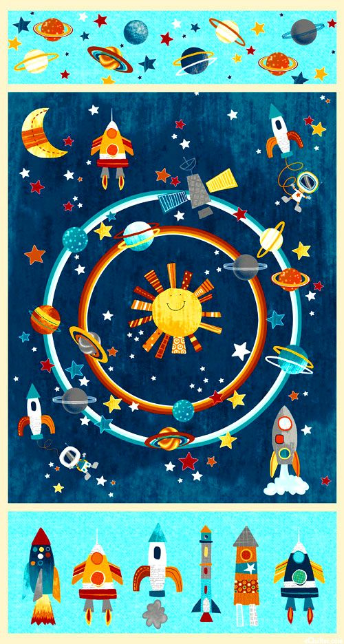 210 best kids images on pinterest for Outer space fabric panel