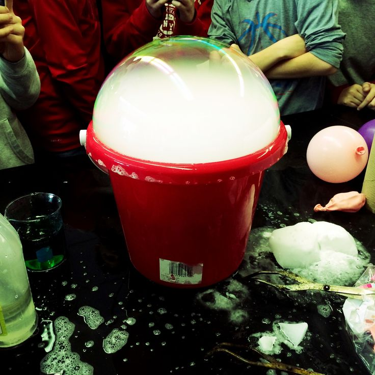Students investigate endothermic and exothermic reactions with dry ice!