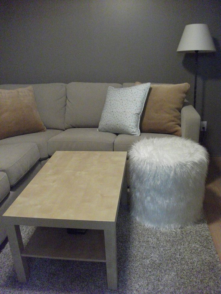 How about that fur ottoman - custom made any size you like!