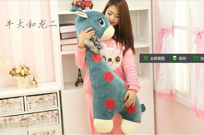 large 80cm giraffe stuffing plush toy cartoon giraffe doll boyfriend pillow back cushion birthday gift b5059 #Affiliate