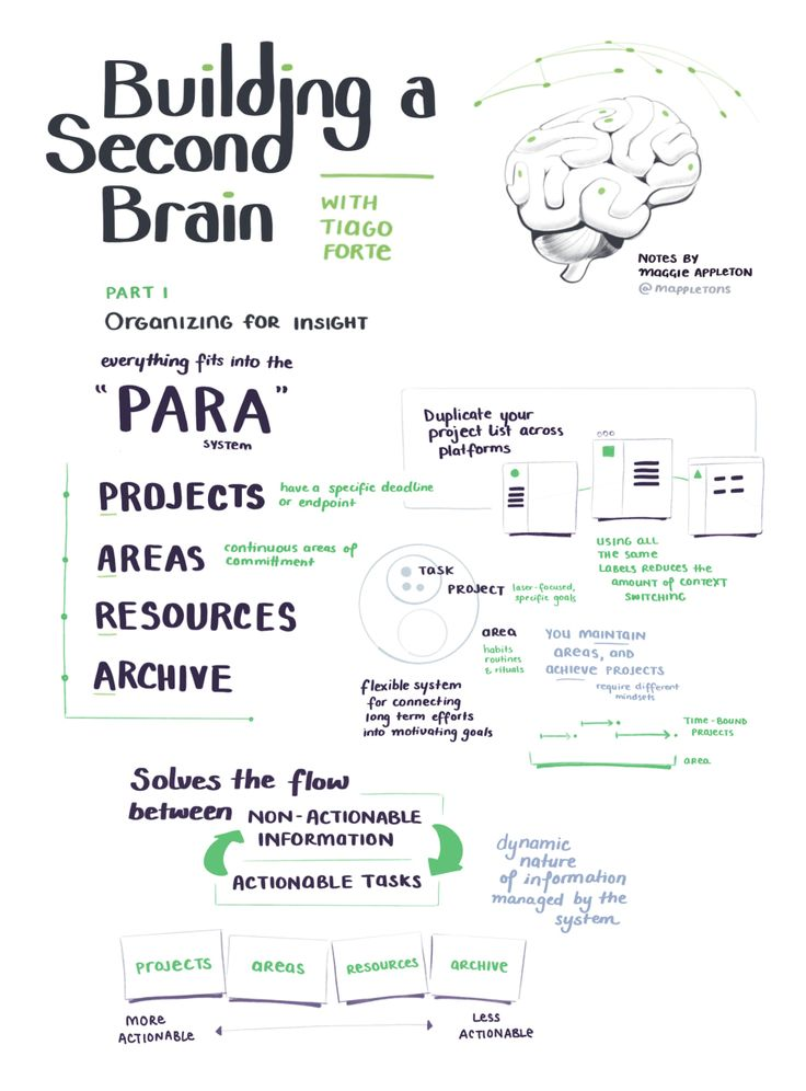 Building a Second Brain The Illustrated Notes in 2020