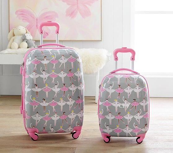 Mackenzie Glitter Ballerina Hard Sided Luggage With