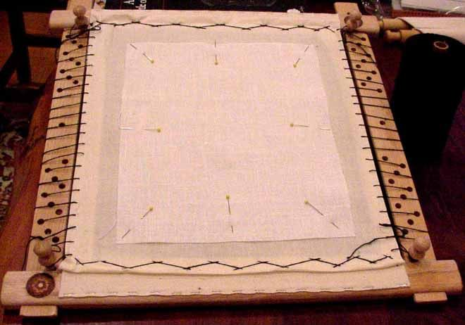Dressing a Slate Frame: All About Tension    By Sabrina de la Bere