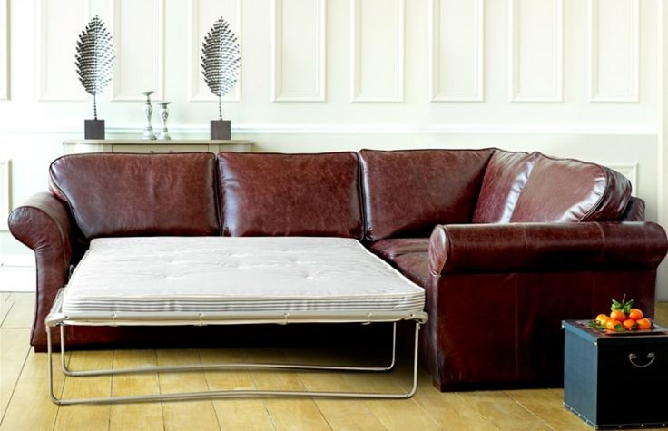 Brown Leather Corner Sofa Bed made in the UK in a range of styles and sizes to fit any home.