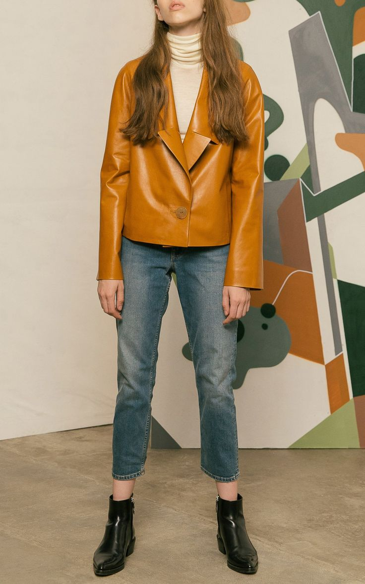 2017 Cropped Leather Jacket by Color Temperature | Moda Operandi…