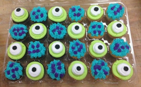 Cupcakes Monster University This is the cupcakes I was talking about!! @Shonda Clements Clements Clements White Youschak