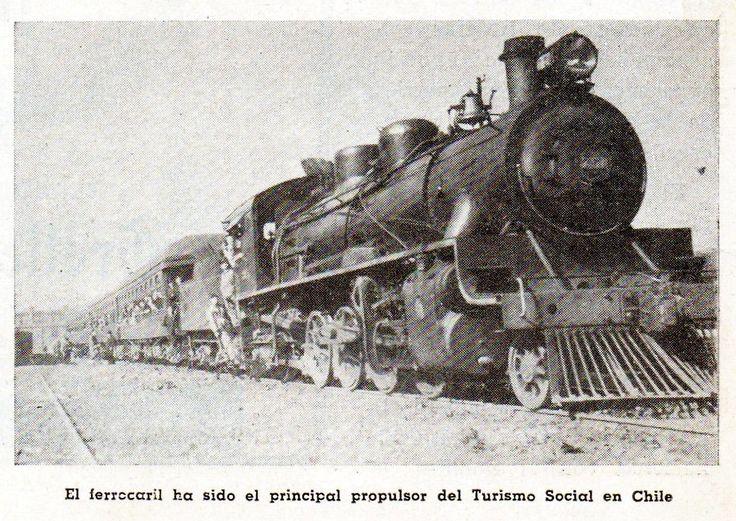 El Ferrocarril ha sido el propulsor del Turismo Social en Chile. Revista en Viaje, diciembre de 1952.